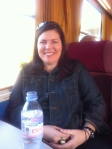 My beautiful BFF on our train ride from Paris to Beaune.