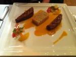 Filet de canette dore avec quinoa and emulsion de la carotte et coriander