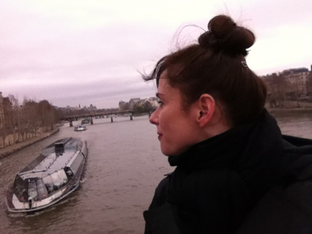 And I just like the way I'm looking at the Seine in this one. I think I'm actually trying not to let the camera catch me crying. Sigh.